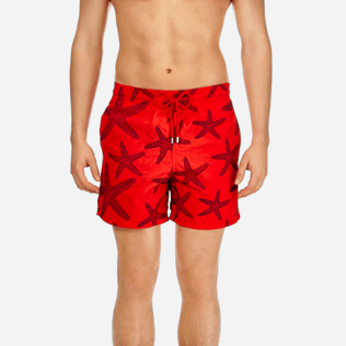Men Embroidered Embroidered - Men Swimtrunks Embroidered Starlettes - Limited Edition, Poppy red supp1