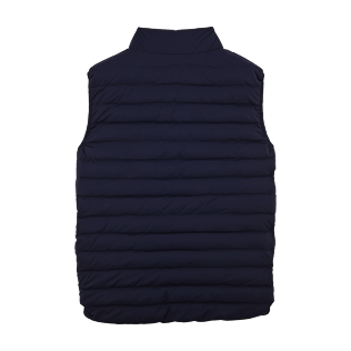 Vests AND Jackets Printed - Sleeveless Doudoune Micro ronde des tortues, Navy back