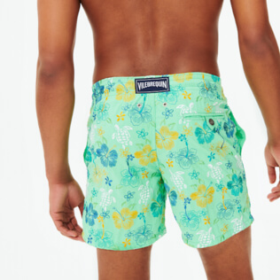 Men Classic Embroidered - Men Swimwear Embroidered Tropical turtles - Limited Edition, Cardamom supp1