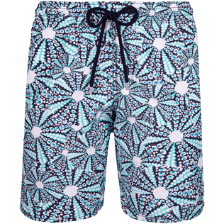Men Long classic Printed - Men Long swimtrunks Oursinade, Navy front