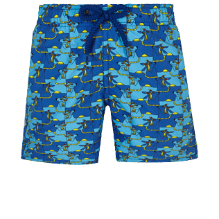 Boys Others Printed - Boys Swimwear Cows Puzzle, Batik blue front