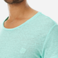Men Others Solid - Men Linen Jersey T-Shirt Solid, Mint supp1