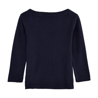 Girls Others Solid - Solid Terry Sailor Top, Navy back
