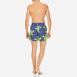 Men Classic Printed - Men Swimtrunks Mosaic Turtles, Neptune blue backworn