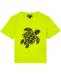 Boys Others Printed - Boys Cotton T-Shirt Turtles 3D effect, Lemongrass front