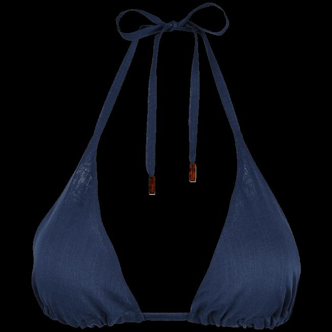 Vilebrequin - Top de triángulo en gasa de algodón liso para mujer - 1