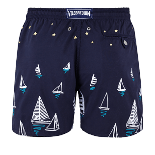 Men Embroidered Embroidered - Men Embroidered swimwear Porto Cervo - Limited Edition, Navy back