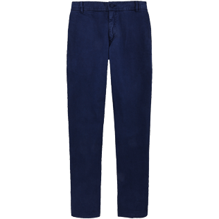 Men Others Solid - Men Twill Stretch Cotton Pants Massimo Vitali, Navy front