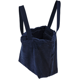 Others Solid - Big terry cloth Beach Bag Jacquard Solid, Navy supp1