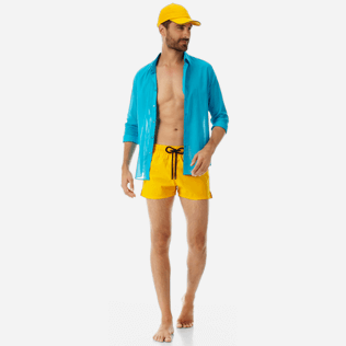 Men Short classic Solid - Men short and fitted stretch swimtrunks solid, Mango supp2