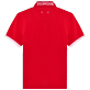 Men Others Solid - Men Cotton Pique Polo Shirt Solid, Red polish back