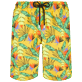 Men Long classic Printed - Men Long Swim Trunks Go Bananas, Curry front