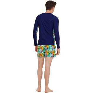 Men Others Printed - Men Rashguard Jungle, Midnight blue backworn
