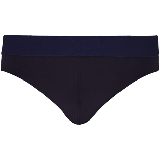 Men Swim brief and Boxer Solid - Men Swim Brief elastic belt solid, Black front