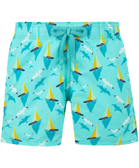 Boys Others Printed - Boys Swim Trunks Bateaux sur l'eau, Lagoon front