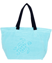 Others Solid - Big terry cloth Beach Bag Jacquard Solid, Lazulii blue front