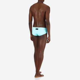 Men Swim brief and Boxer Solid - Men Fitted Swim briefs Solid, Lagoon backworn