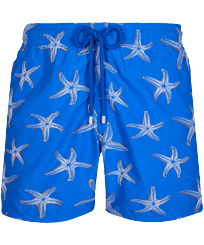 Men Classic Embroidered - Men Swim Trunks Embroidered 1997 Starlettes - Limited Edition, Sea blue front