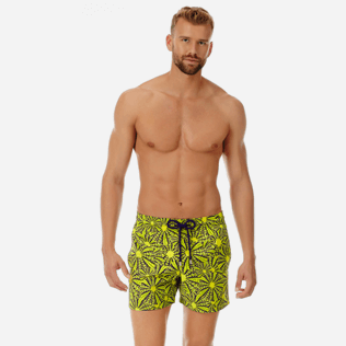 Men Stretch classic Printed - Men Stretch swimtrunks Oursinade, Acacia frontworn