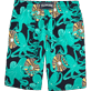 Men Long Printed - Octopussy et Coquillages Long Cut Swim shorts, Navy back