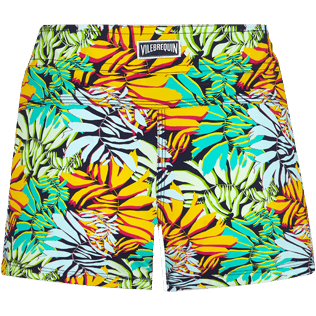Women Others Printed - Women Swim Short Jungle, Midnight blue back