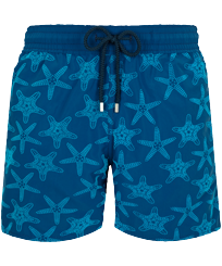 Men Classic Printed - Men Swim Trunks Starfish Dance Flocked, Goa front