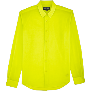 Men Others Solid - Unisex Cotton Shirt Solid, Chartreuse front