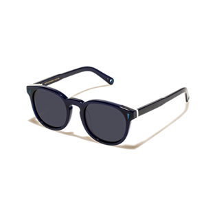 Others Solid - Unisex Sunglasses Bond Black, Midnight blue back