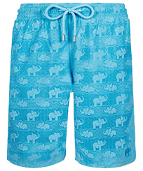 Men Long classic Magic - Men Long Swim Trunks Elephants Bathroom Water-reactive, Jaipuy frontworn