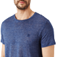Men Others Solid - Men Linen Jersey T-Shirt Solid, Dark heather blue supp1