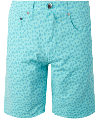 Men Others Printed - Men Cotton Bermuda Shorts Micro Ronde Des tortues, Lagoon front