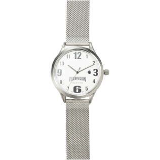 Others Solid - Metal Mesh Silver Watch, Silver front