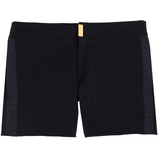 Men Short Solid - Smoking Tuxedo fitted Swim shorts, Black front