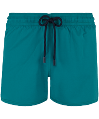 Men Short classic Solid - Men Swimwear Short and Fitted Stretch Solid, Pine wood front