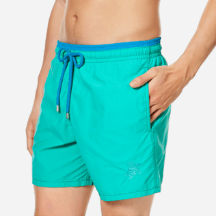 Men Classic Solid - Men Swimwear Solid Bicolor, Veronese green supp1