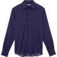 Men Shirts Solid - Solid Cotton Voile Shirt, Navy front
