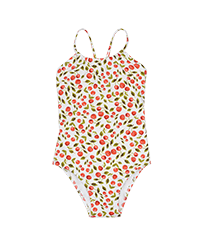 Girls Others Printed - Girls One-piece Swimsuit Cherries, White front