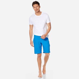 Men Others Solid - Men straight Linen Bermuda Shorts Solid, Atoll supp2