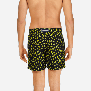 Men Embroidered Embroidered - Men Swimtrunks Embroidered Mini Fish - Limited Edition, Black supp2