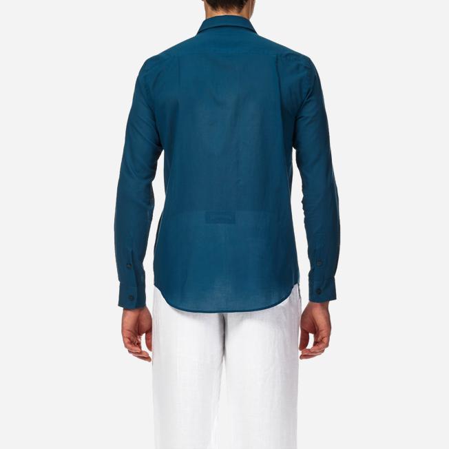 Vilebrequin - Camisa en gasa de algodón con estampado liso unisex - 6