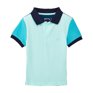 Boys Polos Solid - Cotton pique polo, Unique front