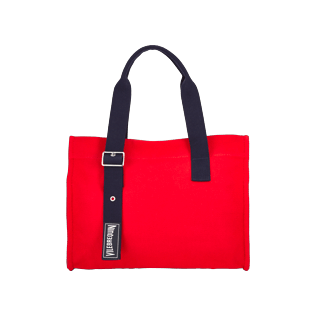 Others Solid - Small Solid Cotton beach bag, Poppy red front