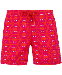 Boys Others Printed - Boys Swim Trunks Stretch Crabs, Medicis red front