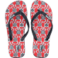 Others Printed - Flip Flop, Poppy red front