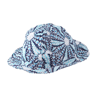 Others Printed - Kids Cotton Voile Hat Oursinade, Navy back