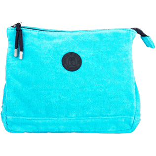 Others Solid - Zipped Beach pouch in Terry Cloth Solid Jacquard, Curacao front