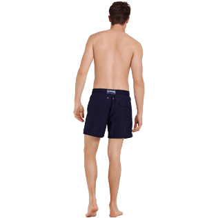 Men Classic Embroidered - Men Swimtrunks Placed embroidery The Year Of The Rat, Navy backworn