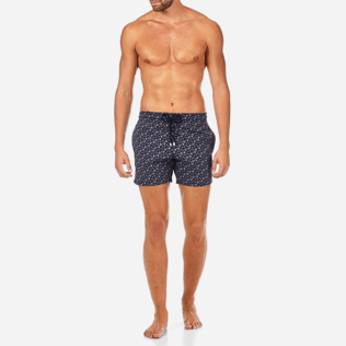 Men Stretch classic Printed - Micro Ronde des Tortues Superflex Superflex Swim shorts, Navy frontworn