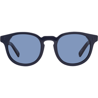 Sunglasses Solid - Flat Blue Smoke Sunglasses, Navy front