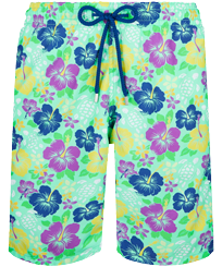 Men Long classic Printed - Men Swim Trunks Long Tropical turtles, Cardamom front